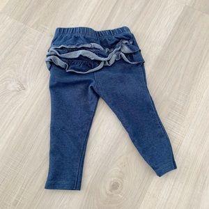 Baby ruffle back jegging pants